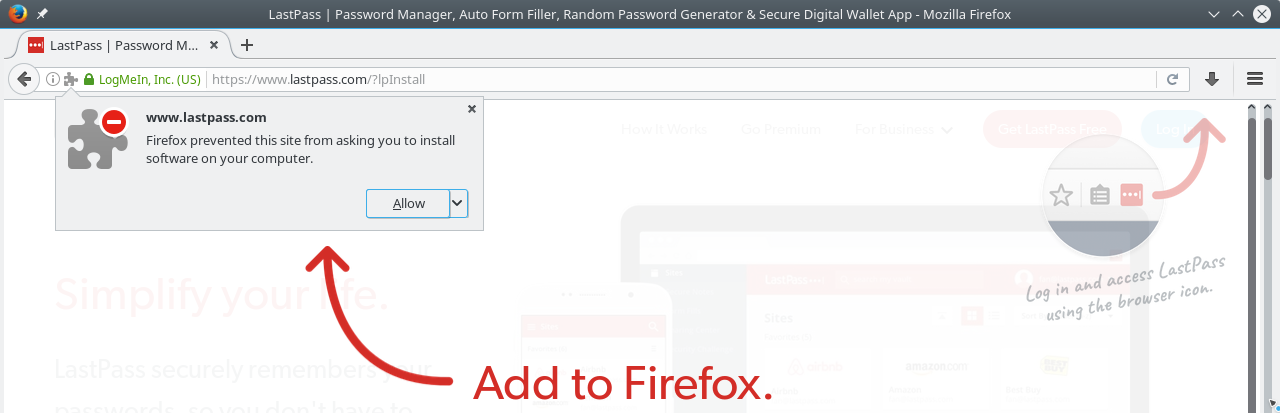 LastPass Plugin Installation in Firefox